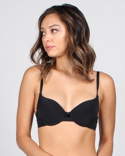 The Charmed Life Striped Bra 32B / Black Intimates
