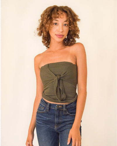 The Claire Wrap Top S / Olive