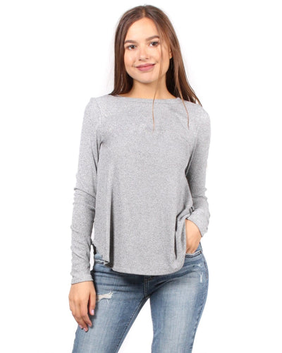 The Classic Chic As Me Long Sleeve Top S / Grey