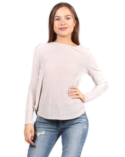 The Classic Chic As Me Long Sleeve Top S / Taupe