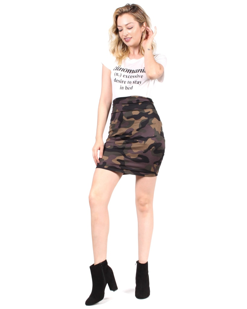 The Courage And Comfort High Waisted Skirt S / Camo