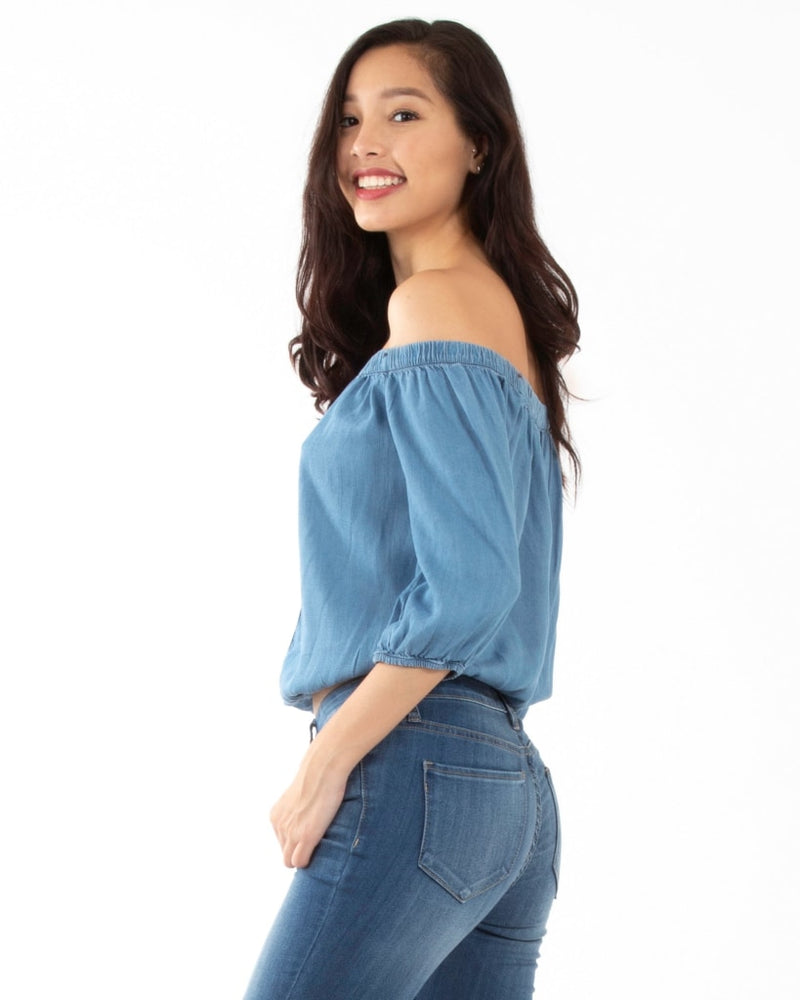 The Danes Blouse S / Medium Denim Tops