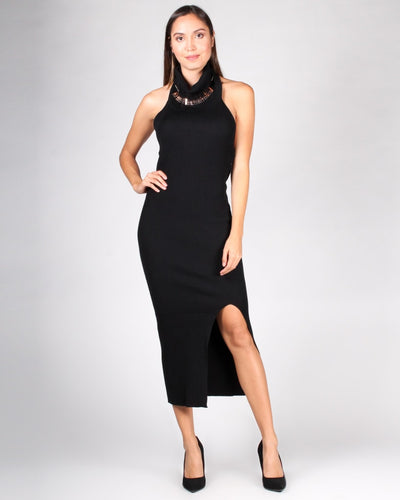The Devoted To You Turtleneck Dress S / Black Dresses