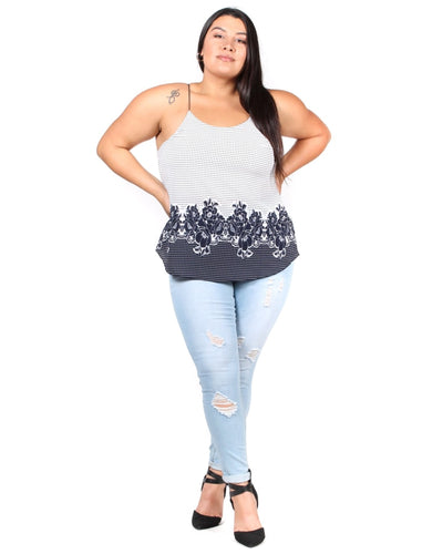 The Dippin Dottin Floral Plus Top