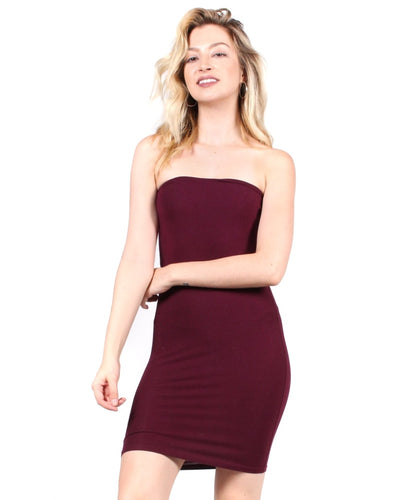 The Dreamboat Dress S / Burgundy