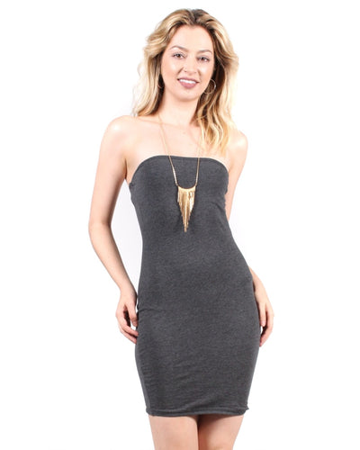 The Dreamboat Dress S / Charcoal