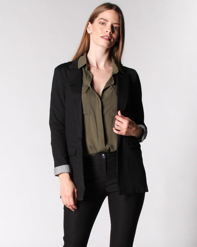 The Eggsy Blazer S / Black Outerwear
