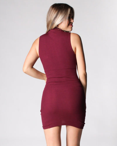 The Enigma Mock Turtleneck Bodycon Dress Dresses