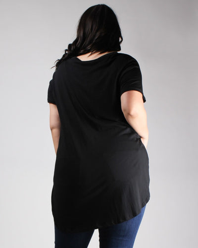 The Femme Fatale Short Sleeve Plus Top Tops