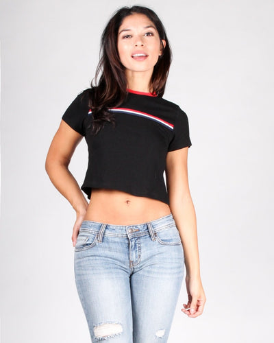 The Flashback Crop Top S / Black Tops
