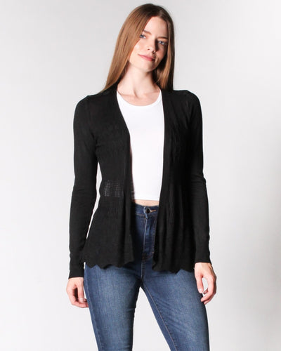 The Fleetwood Cardigan S / Black Outerwear