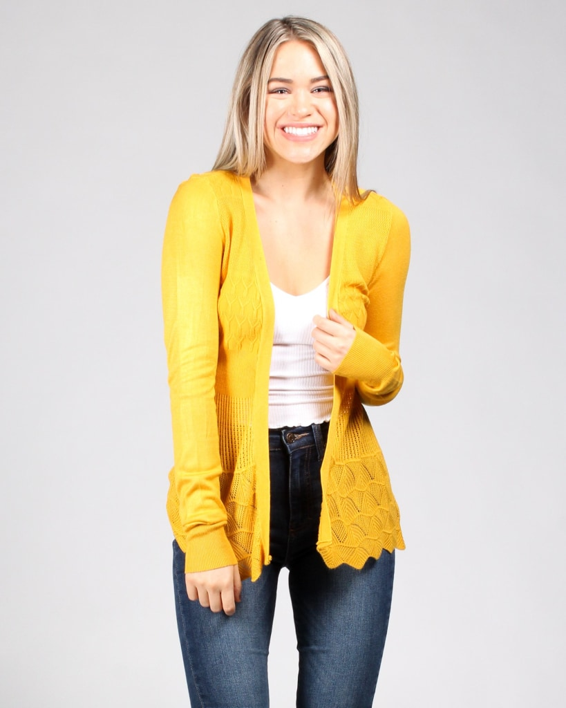 The Fleetwood Cardigan S / Mustard Outerwear
