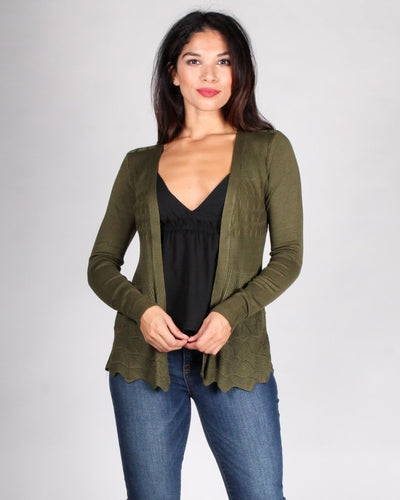 The Fleetwood Cardigan S / Olive Outerwear