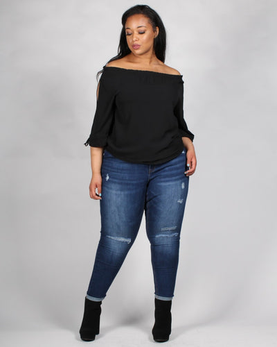 The Flow Rida Off The Shoulder Plus Blouse Tops