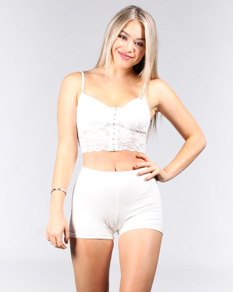 The Game Of Chest Bustier Top S / White Tops