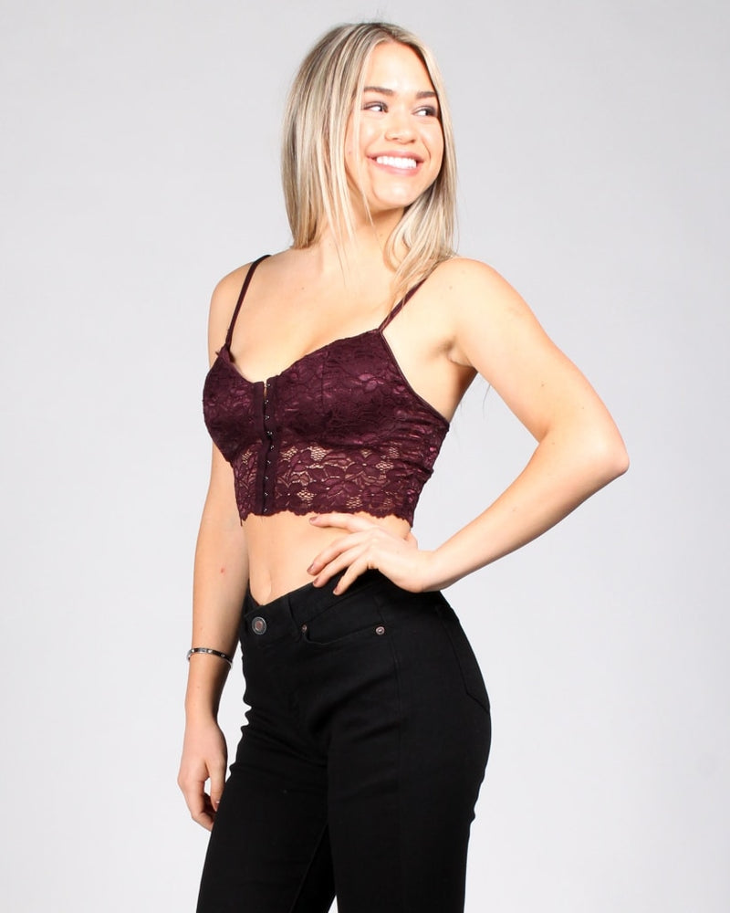 The Game Of Chest Bustier Top Maroon / S Tops