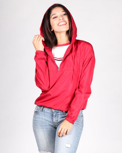 The Good At Being Bad Windbreaker Jacket S / Red Tops