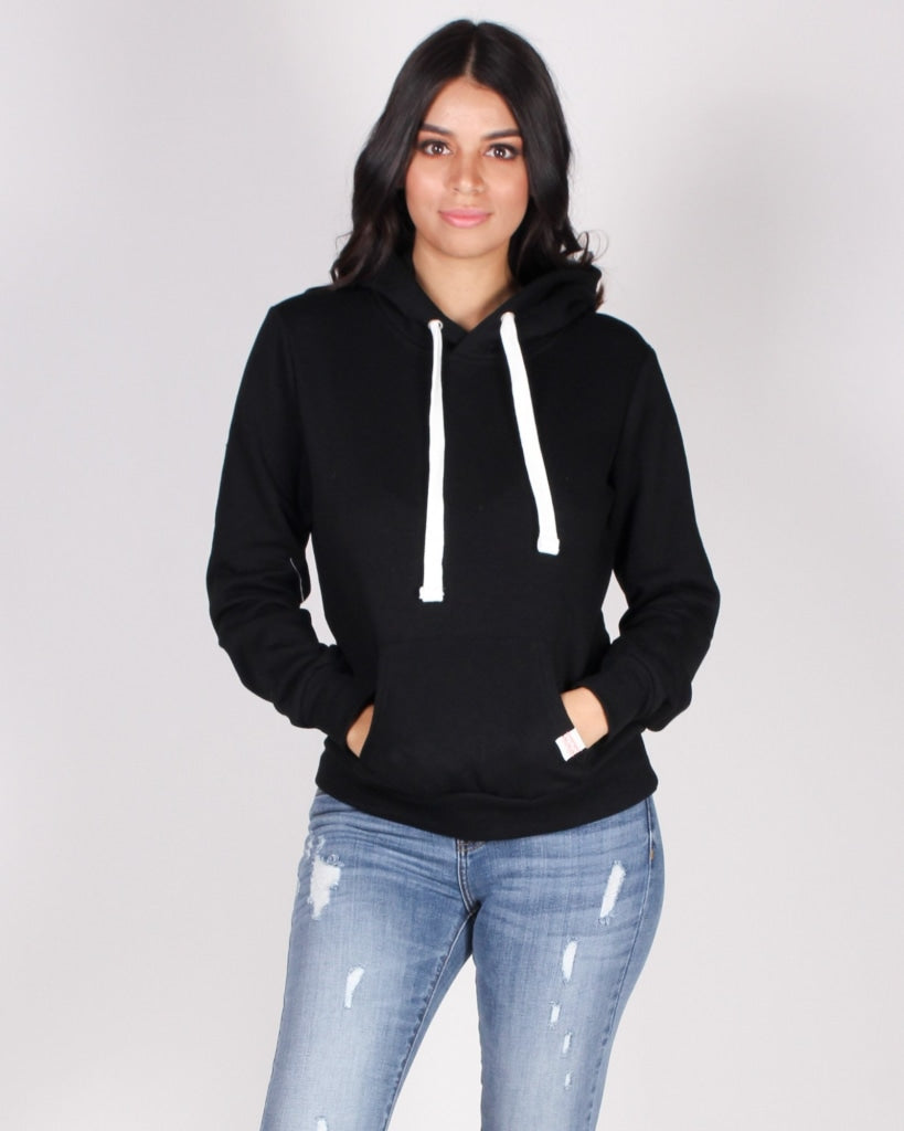 The Heather Hoodie (Black) Black / S Pullover
