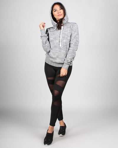 Fashion Q Shop Q The Heather Hoodie (Heather Grey) J416