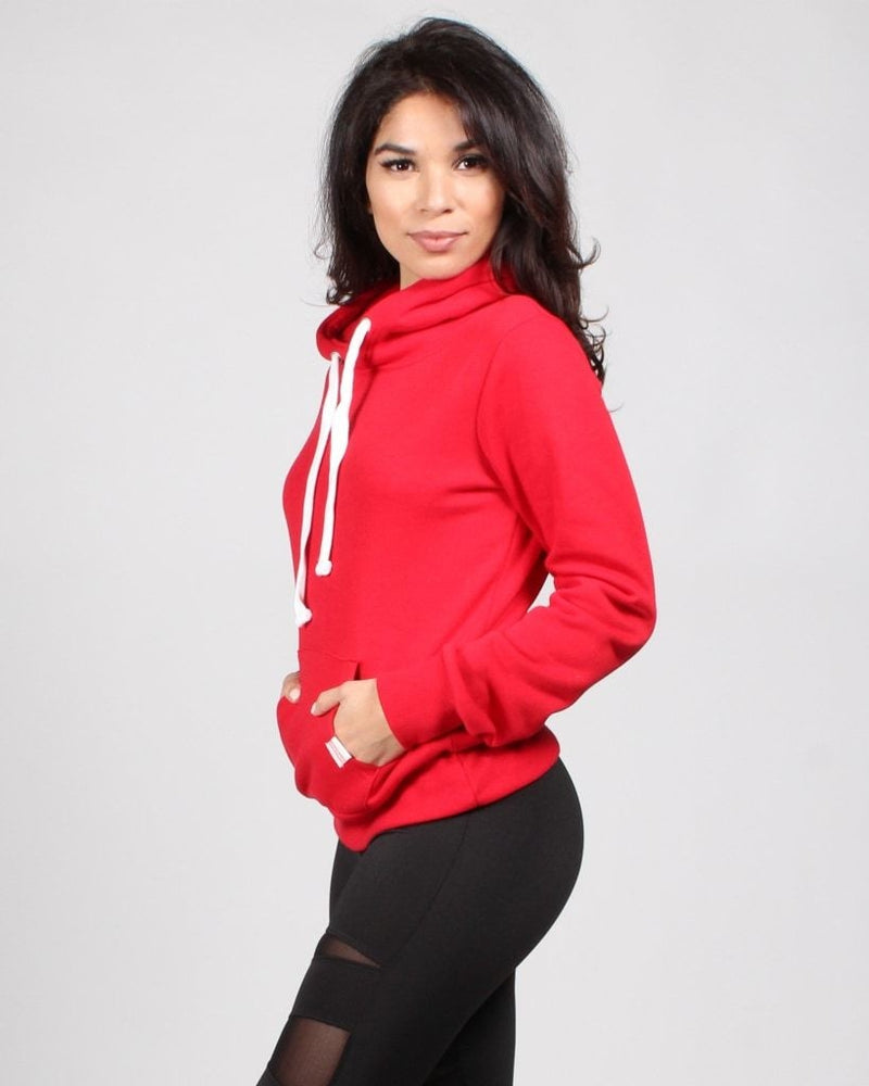 The Heather Hoodie (Red) Red / S Pullover