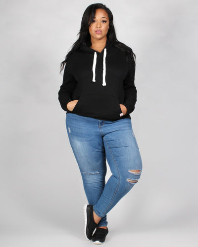 The Heather Plus Hoodie Tops
