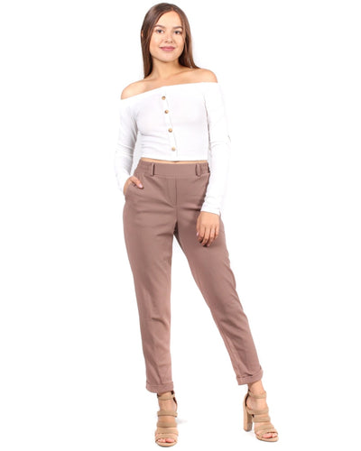 The I Got This Dress Pants S / Mocha