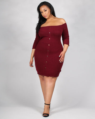 The Invitation Only Plus Dress 3X / Burgundy Dresses