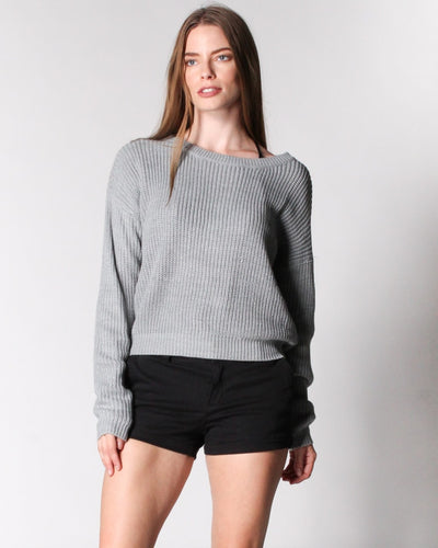 The Knit Tease Sweater S / Grey Tops