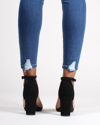 The Manchester Open Toe Heels Shoes