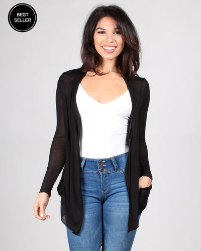 The Michelle Cardigan Black / S Outerwear