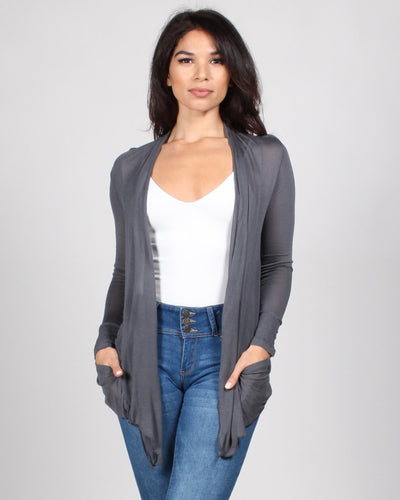 The Michelle Cardigan S / Charcoal Outerwear