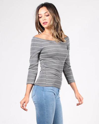 The Millie Stripes Top Tops