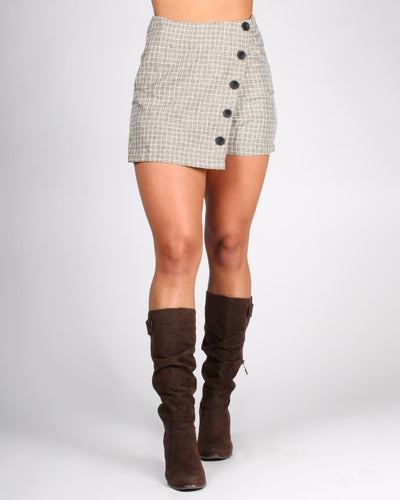 The Modern Gretchen Skort S / Mustard Plaid Bottoms