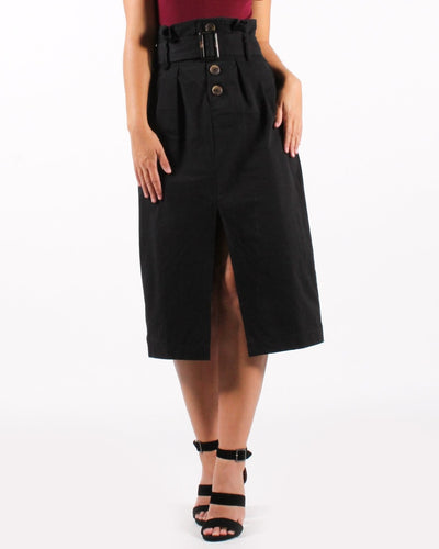 The New Rules Skirt High Waisted Belted S / Black Bottoms