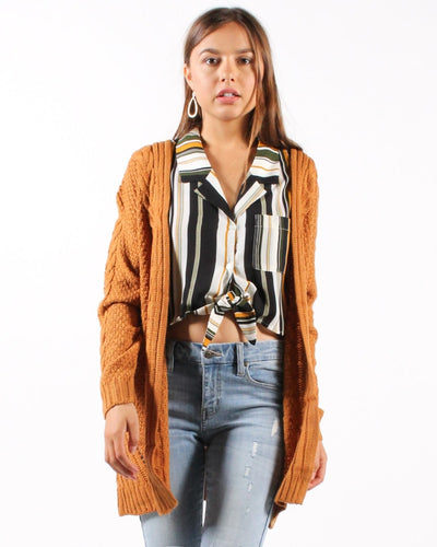 The Not So Complicated Cardigan S/m / Camel