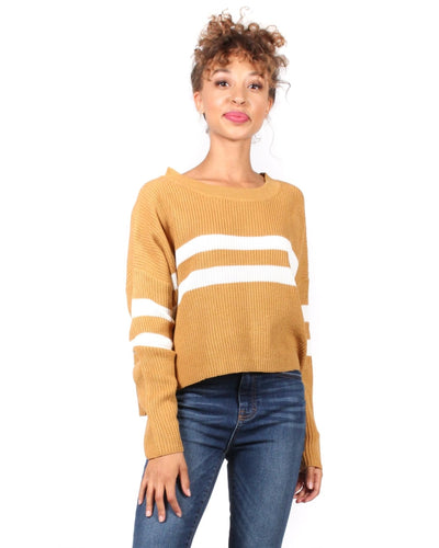 The Parallel Universe Striped Sweater S / Mustard