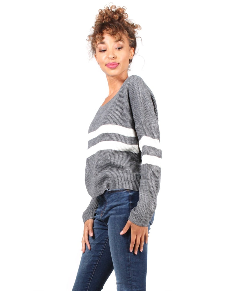 The Parallel Universe Striped Sweater S / Charcoal