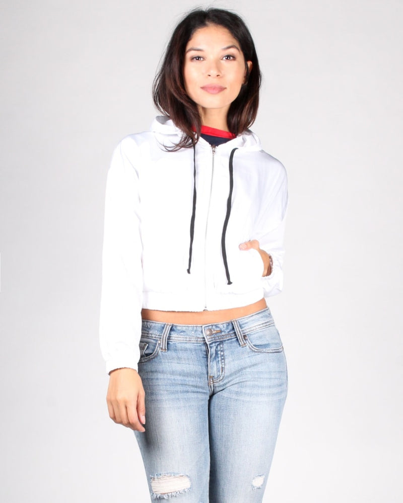 The Perfect Girls Crop Windbreaker Jacket Outerwear