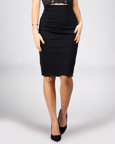The Perfect Storm Pencil Skirt S / Black Bottoms