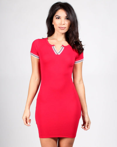 The Plastic Girl Bodycon Dress S / Red Dresses