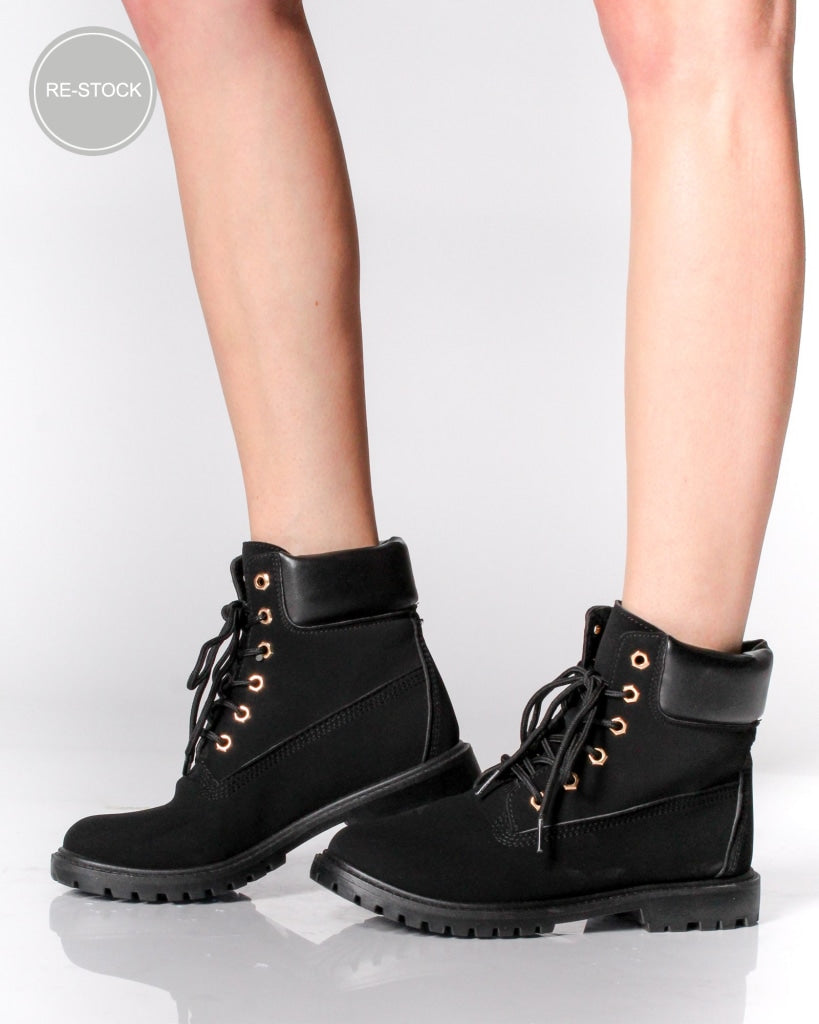 The Portland Army Boots 5 / Black Shoes