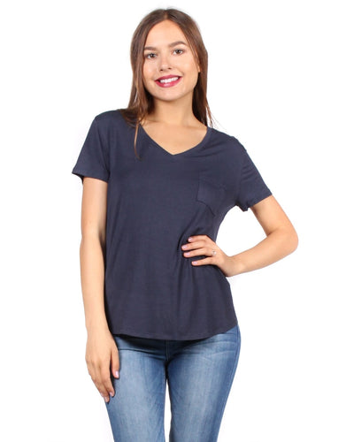 The Q Basics: Complete You Short Sleeve Top S / Dark Night