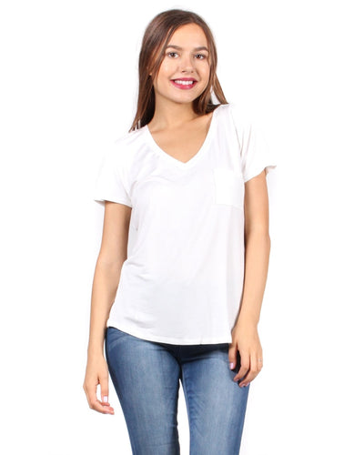 The Q Basics: Complete You Short Sleeve Top S / White