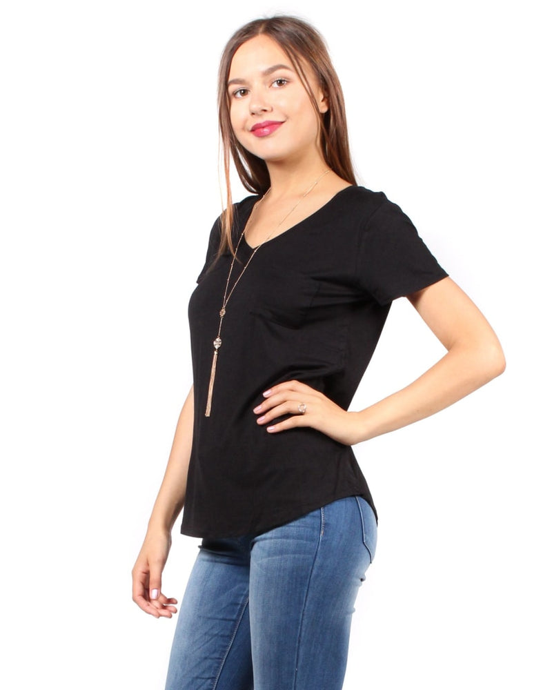 The Q Basics: Complete You Short Sleeve Top S / Black