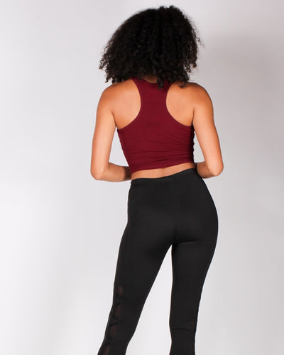 The Q Basics: Feel So Fine Basic Cropped Tank Top (Wine) Tops