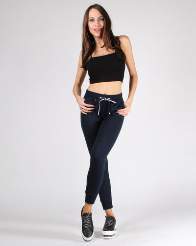 The Q Basics: Spaghetti Strap Basic Crop Top