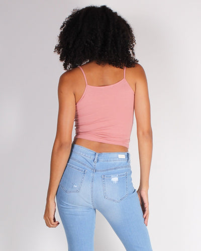 The Real Talk Crop Top (Dusty Rose) Tops