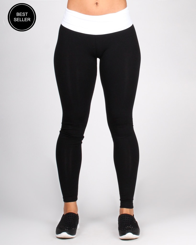 The Sat Nam Yoga Pants S / Black With White Band Bottoms