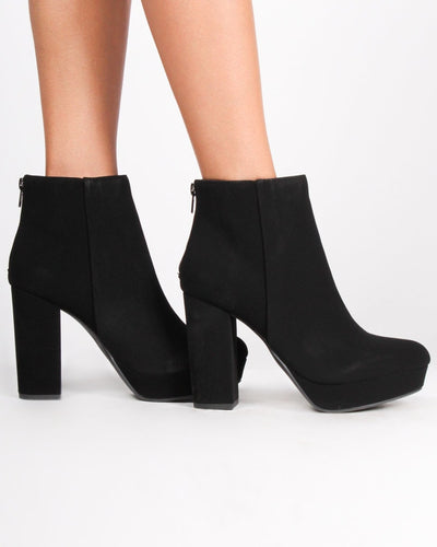 The Seattle Chunky Booties Shoes