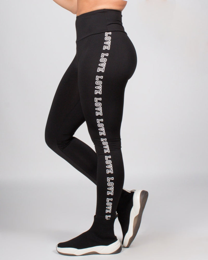 The Self-Love Is The Best Love Yoga Pants S / Black